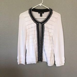 WHBM White cardigan